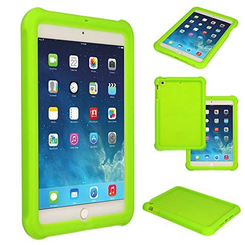 TECHGEAR Schutzhülle für Apple iPad Mini 1 2 3, [Kinderfreundlich] Leichtes Koffer Silikon Soft Shell Anti-Rutsch-Shockproof verstärkte Ecken + Displayschutzfolie. hülle für iPad Mini 3 2 1 - Grün (Bedienungsanleitung Hd Kindle Für Fire)