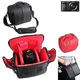 Pour Sony Alpha 6000 Sac Sacoche Gadget pour appareil photo reflex numérique et accessoires Anti-Choc DSLR SLR caméra Housse Étui de pluie pour Sony Alpha 6000 supplémentaire protection complète boîte de voyage antichoc, noire - K-S-Trade(TM)