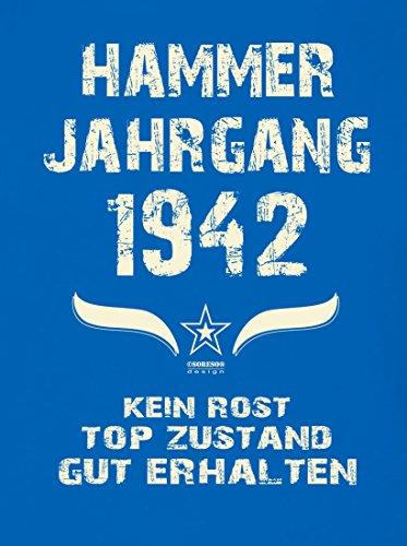 Geschenkset für Männer : Hammer Jahrgang 1942 : Herren Kurzarm T-Shirt :  Geschenkidee zum ...