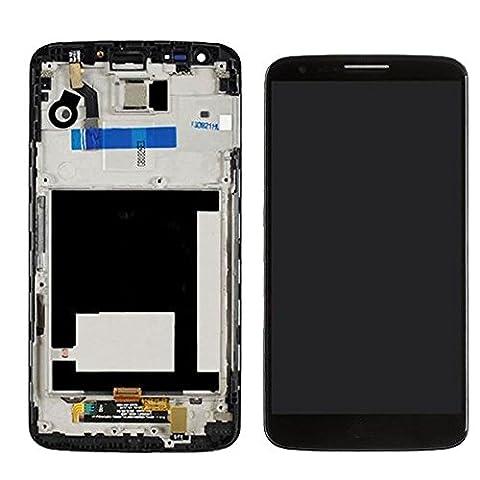 ixuan Pièce de remplacement Vitre Ecran Tactile LCD Assemblé Complet sur Châssis pour LG Optimus G2 D802 (Noir) avec Outiles