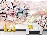 Yosot Benutzerdefinierte Größe 3D Fototapete Wohnzimmer Wandbild Magnolia Flower Oil Painting Fernseher Sofa Hintergrund Vliestapeten Für 3D-Wand-250Cmx175Cm
