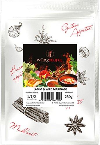 Lamm & Wild - Marinade, Gewürzmarinade. Würzige Kräutermarinade mit Knoblauch für Lamm & Wildfleisch. Beutel: 250g.