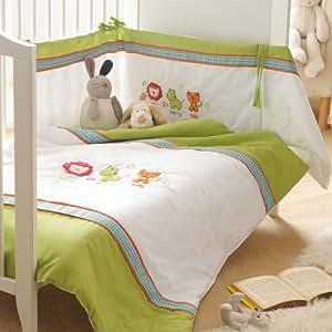 New Safari Friends 3 piece Cot Quilt Nursery Set