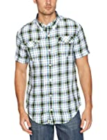 Timberland Linen Harmon Plaid Men's Shirt