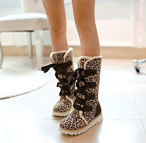 CHAOYANGStrap fond plat chaussures de neige en peluche chaussures étudiants grands chantiers doux automne et l'hiver des bottes frottent les chaussures bottes de neige 1