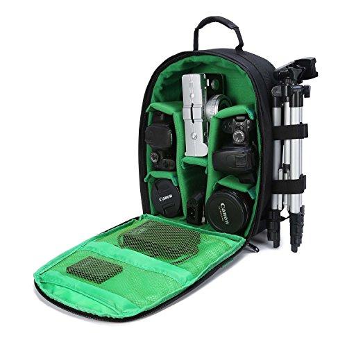 Fotorucksack Wasserdicht Kamerarucksack Laptop Kameratasche DSLR Kamera Rucksack für Canon Nikon Sony (Grün)