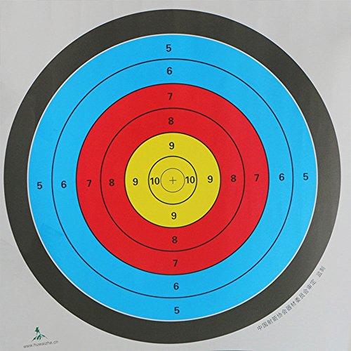 Beautyrain 10 Stück Bogenschießen Ziel Gesichter 60x60cm