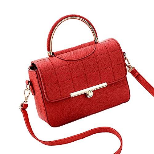 Borsa A Tracolla Borsa Dell'unità Di Elaborazione Borsa Tracolla Messenger Bag Zaino Personalità Pacchetto Selvaggio Red