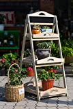Blumentreppen Blumentreppe Kreidetafel Regal Holzregal Leiterregal Schubladenregal Pflanzentreppe Gartenregal (YL15A050)