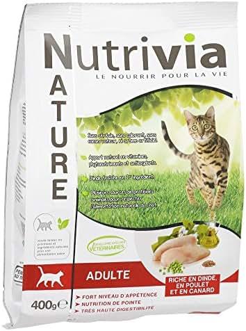 Nutrivia Nature : Croquette Chat : Dinde,poulet,canard 400g