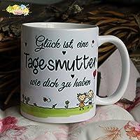Kaffeebecher ~ Tasse - Glück ist, eine Tagesmutter wie dich zu haben ~ Weihnachten Geschenk