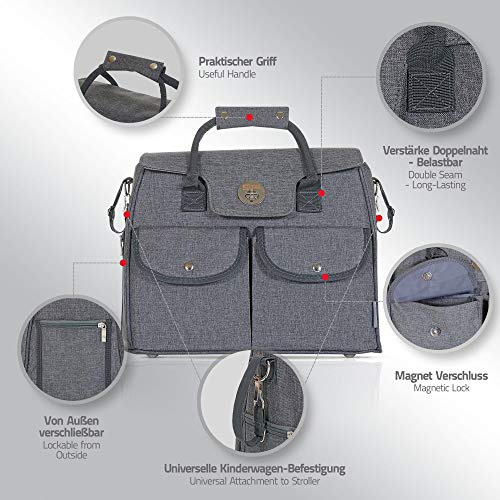 LCP Kids Wickeltasche RIO GREY - 2