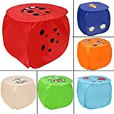 Ketsaal Square Laundry Basket/Bags for You and Your Kids- (Multipurpose, Foldable, with Carry Handle and Zippered Lid) (Color May Vary)