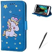 MAGQI For LG K10 PU leder Wallet Brieftasche Hülle,Viele Farbe Unicorn Muster mit Magnetverschluss Flip Book Style... preisvergleich bei billige-tabletten.eu
