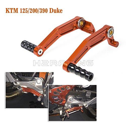 Preisvergleich Produktbild H2RACING Bremsen Schalthebel Hebel für 125 Duke 2011 2012 2013 2014 2015 200 Duke 12-16 390 Duke 13-16 RC125/RC200/RC390 14-16