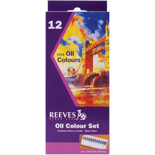 Reeves - Kit per pittura ad olio, 12 colori x 12 ml