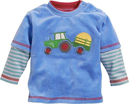 Schnizler Baby-Jungen Langarmshirt Sweatshirt Nicki Traktor, (Blau 7), 62