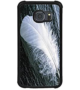 ColourCraft Feather Design Back Case Cover for SAMSUNG GALAXY S6