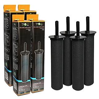 Filter Logic FL-296 Carbonelement, kompatibel mit Astracast, Wicks und Pureflow, 4 Stück