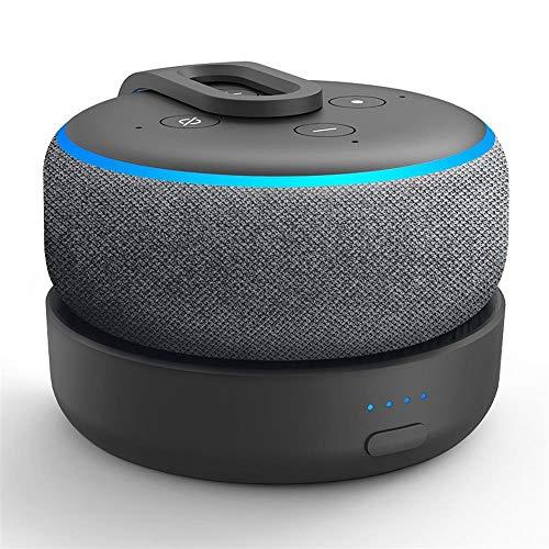GGMM D3 Base de Batterie Portable pour Enceinte Dot 3ème Génération et Autres Enceintes Smart Home (Noir Nouvelle Version)