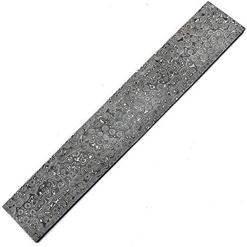 MNAJ-8705 modèle de goutte de pluie 30 cm x 5 cm x 5 mm fait main billette / barre en acier damas pour la fabrication de couteaux fabrication de bijoux | coutellerie et à d'autres fins