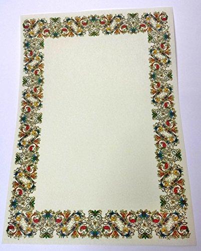 N° 20 pergamena a4 stampabile diploma carta decorata avorio cartoncino marmor