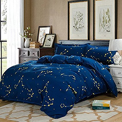 4Star Design Bettwäsche Sets Made mit hautfreundlichen Material (kein Tröster involviert), baumwolle, Orion, Blue, Twin(58