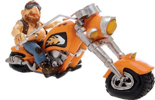 CERTRE Motard avec Moto Orange cm.Expédition 32 h.15 (Prix Fixe Euro 11,90 - TU Peux Ajouter Autres Articles dans Le même Ordre jusqu'à Un Poids Total de kg.40)