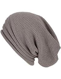 Odejoy Cappello Inverno Berretto in Maglia Cappelli Eleganti per Uomo e  Donna Moda Cappello Con Cappello Di Lana Cashmere Diversi… 5c94f6b4ed04