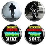 Biker Group Badge Set (Set of 4)