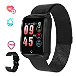 Sports Smart Watch GOKOO Fitness Tracker With Heart Rate Blood Pressure Sleep Monitor IP67 Waterproof Activity Tracker Calorie Pedometer Counter Healthy Sport Watch For Women Men Android IOS