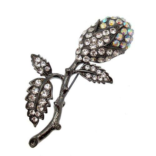 Acosta - de cristal de diseño de flores broche con forma de retro inspirada en diseño gótico - el día de la madre/texto