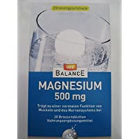 Preisvergleich für GEHE BALANCE Magnesium 500 mg Brausetabletten 20 St Brausetabletten