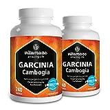 Garcinia Cambogia hochdosiert + Cholin als Appetitzügler, Fatburner, 240 Kapseln