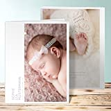Baby Fotoalbum Name, Reines Herz 28 Seiten, Hardcover 234x296 mm personalisierbar, Lila