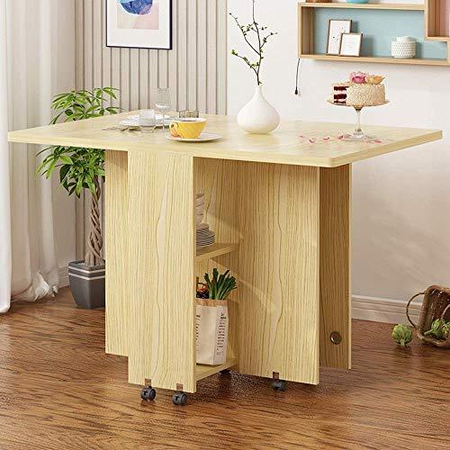 BinLZ-Table Klapptisch Esstisch Computerbuchtisch Kleine Wohnung Roundtable Einstellbar, Weißer Ahorn -