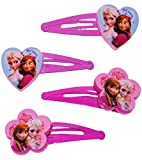 Unbekannt 6 TLG. Set Haarspangen / Haarclips -  Disney die Eiskönigin - Frozen  - für Kinder Mädchen Schmuck Haarschmuck - Mädchen Prinzessin Olaf - völlig unverfrore..