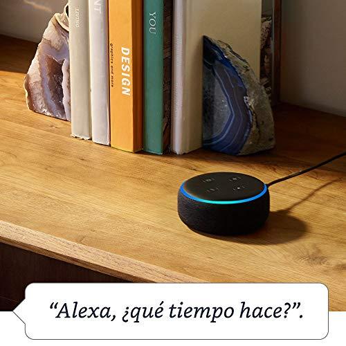 51m5P4nFa0L - Echo Dot (3.ª generación) - Altavoz inteligente con Alexa, tela de color antracita
