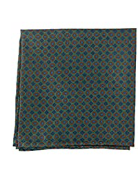 Ernani - Vintage Geometric Silk Pocket Square