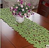 Moda semplice pastorale feltro table runner fiore Tovaglietta di Maple Leaf Chinese Restaurant stuoia di tabella lunga tavolino decorativo table runner-A 30x40cm(12x16inch)