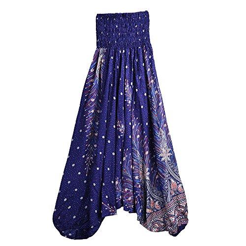 d43e94e747ec Galleria fotografica Topgrowth Pantaloni Larghi Uomo Donna Yoga Casual  Pantaloni Etnici Sciolto Tuta di Aladino Stampa