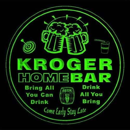 4x-ccq24520-g-kroger-family-name-home-bar-pub-beer-club-gift-3d-coasters