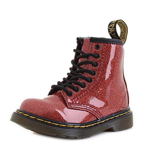 Dr. Martens Mädchen 1460 Glitter T Kurzschaft Stiefel, Rot (Red Multi 635), 24 EU