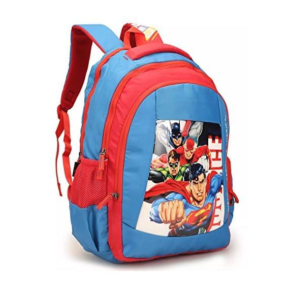 HMI Original Licensed Justice League 28 Ltrs Multi-Colour School Backpack (HMHISB 30702-JL)