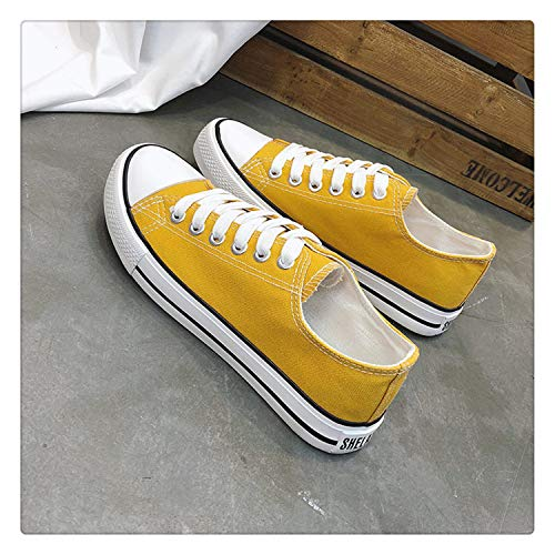 Classic White Black Canvas Shoes Lace Up Breatable Fashion Sneakers New 2018 Spring Women Casual Shoes Vulcanize Espadrilles Yellow 8 Jessica Simpson Nordstrom