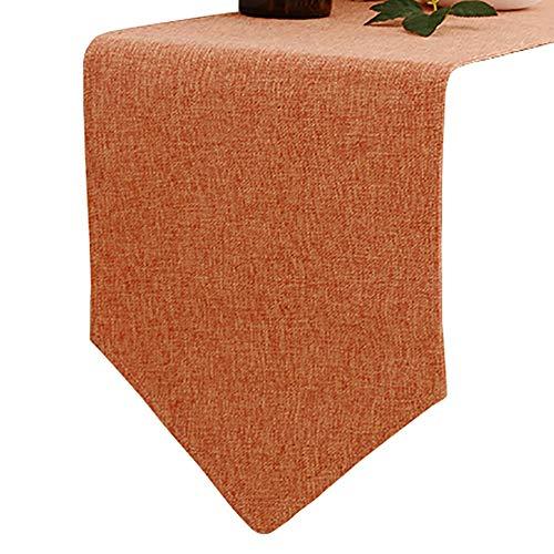 Chemin de table Tissu en Coton et Lin facultatif Multicolore, Convient à la Table à Manger/Table Basse/Armoire (Couleur : Style1, Taille : 30×210cm)