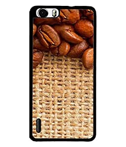 PrintVisa Designer Back Case Cover for Huawei Honor 6 Plus (coffee beans placed checked floor)