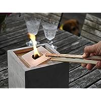 Nachfüllwachs für Betonfeuer der Beske-Manufaktur |Wachs in praktische Wachsplatten gegossen zum Wiederbefüllen von Betonfeuer |Für die Größen 17x17x17, 25x25x13