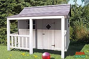 Dynamic24 ida maison de jardin en bois pour enfants gris