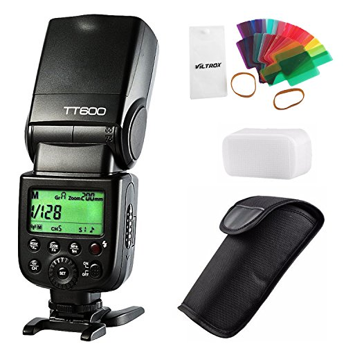 Viltrox Godox TT600GN602.4G Wireless Speedlite Master/Slave flash per Canon Nikon Pentax Olympus Fujifilm Panasonic con 20PC color filtro diffusore
